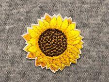 Sunflower Embroidery Iron On Patch Badge AppliqueSun Flower Petals Plants Large