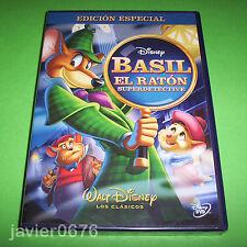 BASIL EL RATON SUPERDETECTIVE CLASICO DISNEY NUMERO 26 DVD NUEVO Y PRECINTADO