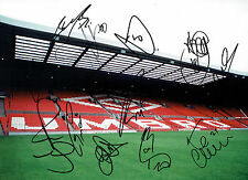 Manchester United Multi Signed 16x12 Autograph Old Trafford Photo AFTAL COA
