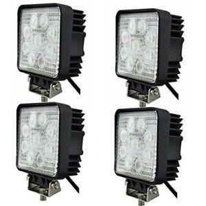 2 4 x 27W LED LUCE FARO LAMPADA DA LAVORO FARETTO AUTO CAMION JEEP SUV 12V 24V