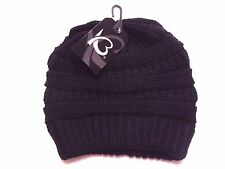 KB Ethos Knit Beanie Hat Cap KBW-7011 Black One Size