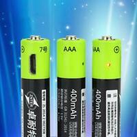 2pc 4 AAA 1.5 V charger USB rechargeable AAA Li-po-Battery Battery. I5W3 Ba R4E5
