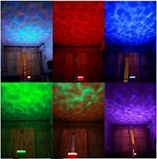 Psychedelic Lamp Light Ocean Waves Projector 8 Modes Speaker Relax Trippy