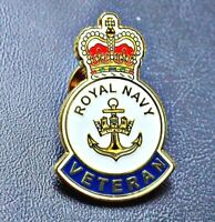 HM Royal Navy British Veteran enamel pin lapel badge UK ANCHOR POPPY DAY 2019