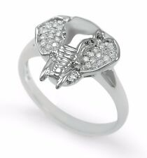 Sterling Silver Elephant Ring with CZs / Elephant Gifts / Elephant Lovers / New!