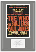 The Who New Zealand Concert Poster and Autographs Memorabilia Poster  2 Sizes