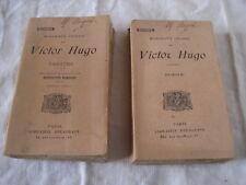 2 Livres Collection Pallas Victor Hugo Poésie et Théâtre Librairie Delagrave