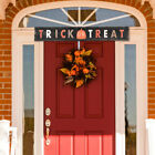 Halloween Hanging Sign TRICK OR TREAT Holiday Wall Dercoration Welcome Signs