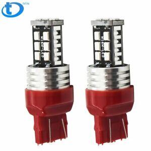 7443 Red LED Strobe Flash Blinking Brake Tail Light/Parking Bulbs HIGH QUALITYUS