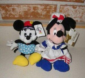 Gund & Betsy Ross Bean Bag Plush Minnie Mouse Disney Patriotic Polka Dot New