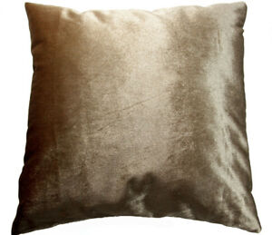 Mo85a Pale Gold Brown Shimmer Velvet Style Cushion Cover/Pillow Case*Custom Size