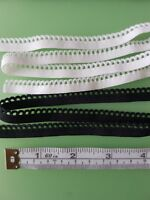10m of 10mm BLACK Elastic Scalop Picot Edge Lingerie Underwear Edging Lace Light