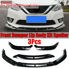 For 2016-2019 Nissan Sentra 3Pcs Front Bumper Lip Body Kit Spoiler Splitter