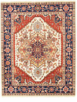 "Hand-knotted  Carpet 8'0"" x 10'0"" Serapi Heritage I Traditional Wool Rug"