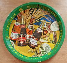 Ancien Plateau Métal Publicitaire Bières de Vezelise St Nicolas Lorraine Vintage
