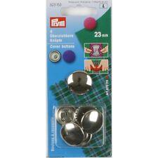 Bottoni 23mm Bottone Argento per da ricoprire Coprire PRYM 323153 ottone