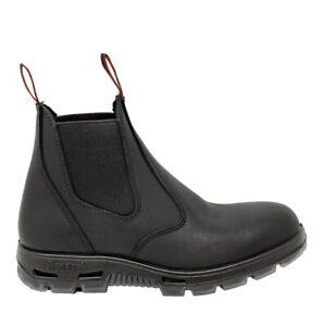 Redback Boots USBBK Easy Escape Steel Toe Leather Black Mens Size US 11 / UK 10