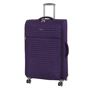IT Luggage The Lite Quilte Petunia Plum Medium Expandable 69cm 8 Wheel Suitcase