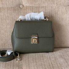 FURLA JOANN OLIVE GREEN SMALL Crossbody Bag Italian Cow Leather TopHandle RRP629