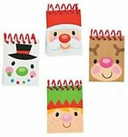 Pack of 12 - Mini Cheery Christmas Spiral Notebooks - Stocking Party Bag Fillers