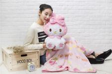 Kawaii Bowknot My Melody Kitty Pink Stuffed Doll Plush Toy Blanket Cos Gift