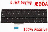 For Lenovo IdeaPad Y70 Y70-70 25215978 Keyboard Nordic Norwegian Swedish Backlit