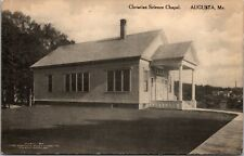 Postcard Christian Science Chapel in Augusta, Maine~132920