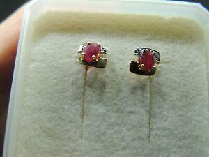 Emerald essonite Ruby Saphir Gemme Boucle d/'oreille Argent Sterling .925 SE041183