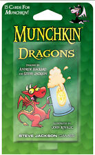 Munchkin Dragons Expansion Card Game Adds 15 Cards Steve Jackson Booster SJG4235