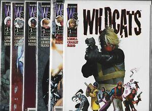 Wild C.A.T.S. #1, #1c, #1d, #1e, #1f & #1g   Lot of 6 (March 1999, Image Comics)