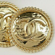 Chanel Buttons 💝  CC Gold 20 mm Vintage Style Unstamped 2 Buttons AUTH!!!