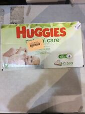 New ListingHuggies Natural Care Sensitive Baby Wipes Unscented 10 Flip Top Packs 560 Wipes