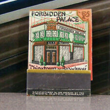 Vintage Matchbook K6 Los Angeles California Forbidden Palace Chinatown Broadway