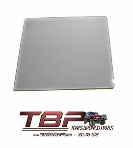 1966-1977 Early Ford Bronco Gray Tinted Door Glass NEW