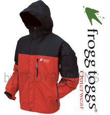 FROGG TOGGS RAIN GEAR-NT6601-110 RED/BLACK MENS JACKET TOADZ TOAD-RAGE FISHING