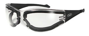 New Clear UV400 Anti-Fog Padded Motorcycle/Biker Glasses + Free Pouch & Postage