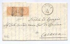 """LOMBARDO-VENETO su ITALIA - da """"MOTTA"""" a Casarsa 1869 - da esposizione"""