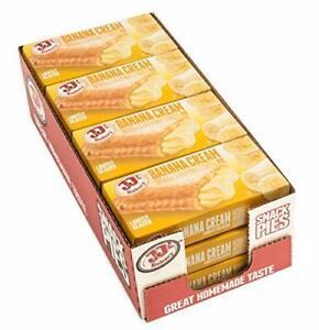 JJ's Bakery Snack Pies Kosher Parve, Pack of 12 (Banana Cream)