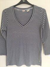 Levi's Ladies Navy Striped T Shirt Size M