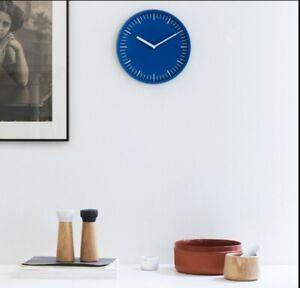 Normann Copenhagen Day Wall Clock Blue Metal Case New 28cm