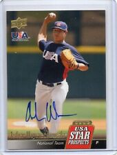 2009 UD USA Star Prospects Asher Wojciechowski Autograph Less than 25 Made Auto