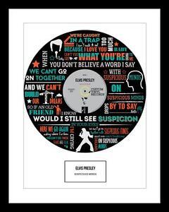 ELVIS - MEMORABILIA - Suspicious Minds - FRAMED ART POSTER PRINT - Ideal Gift