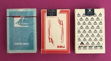 3 Decks Airlines Playing Cards TWA Delta Pan Am Factory Sealed
