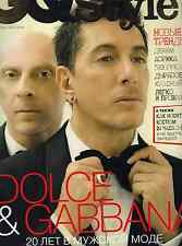 MAGAZINE  RUSSIAN GQ style  N°6 2010  SPECIAL DOCE AND GABBANA