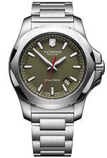 New Victorinox 241725.1 Swiss Army INOX Green Dial Stainless Steel Men's Watch