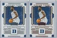 2020 contenders zion williamson red parallel  rookie card lot sp $$$