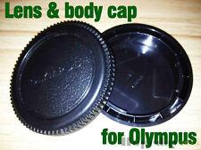 Camera Body Cover and Rear Lens Cap for Olympus OM 4/3 E-1 E-3 E-5 E-10 E-20