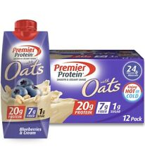 Premier Protein 20g Protein with Oats Shake, Blueberries and Cream 11oz 12pk