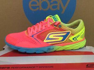 Skechers Vintage Rare Go Run Speed Women Running Shoe Size 8.5 Hot Pink Lime E3