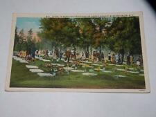 VINTAGE POSTCARD SCENE IN MORAVIAN GRAVEYARD ON EASTER SUNDAY WINSTON SALEM NC